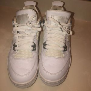 Jordan 4 retro ( all white )